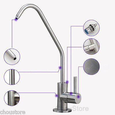 304 Stainless Steel Kitchen Sink Pure Water Faucet Filter Drinking Water Tap 95