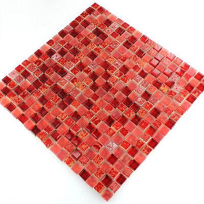 muster glas naturstein mosaik fliesen rot mix 15x15x8mm. Black Bedroom Furniture Sets. Home Design Ideas