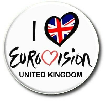 """Eurovision Song Contest Party Badges/ Eurovision Sweepstake~ 25 Mm/ 1 """" 2"""