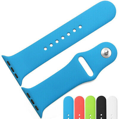 Replacement Sports Silicone Strap Band for Apple Watch Series 5/4/3/2/1 38-42mm 3