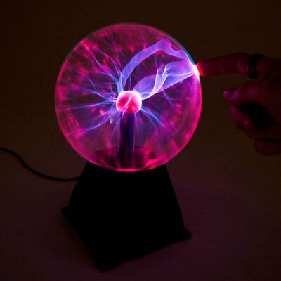 """Plasma Ball Light 8"""" Inch Sound Touch Activated Tesla Orb Lamp 12V DC 8-inches 2"""