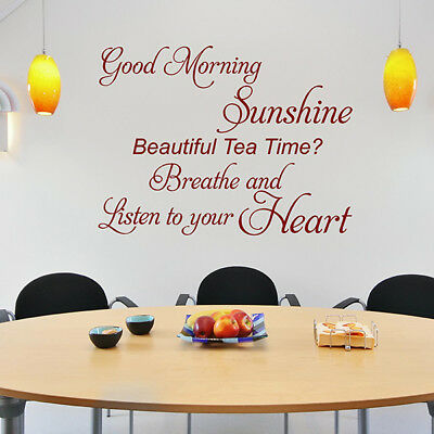 Good Morning Sunshine Wall Stickers Vinyl Art Decals