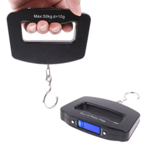 Best for hi q luggage weight hook scale mini 50kg 10g lcd for Best digital fish scale