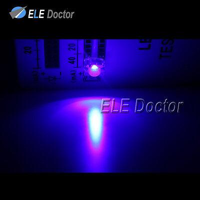 1000pcs Flat Top Piranha Super Flux Blue Light 4Pin LED Diodes 460-470nm