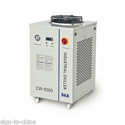220V 60HZ CW-6200BI Industrial Water Chiller for Dual 200W CO2 Glass Laser Tubes