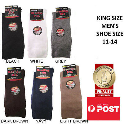 Men's Diabetic Loose Top Medical Circulation Socks Wide Top SEAMLESS SMOOTH TOE 3