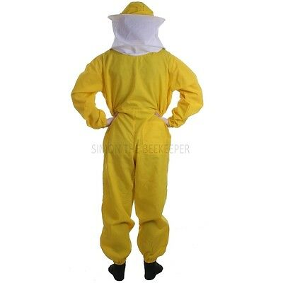 Beekeeping Yellow Round Veil Suit & Gloves-Buzz Basic- Choose Your Size 6