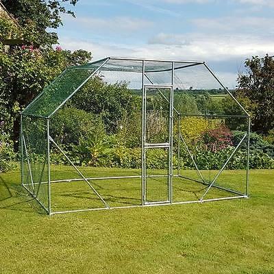 Chicken Run 2M X 3M Walk In Pet Cage Coop For Dog Rabbit Hen Cage Pen Metal Door 2
