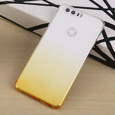 For Huawei Honor 8 Ultra Thin Gradient Color Clear Gel Skin Case Back Cover 8