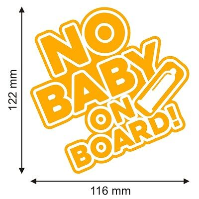 1 of 2free shipping no baby on board funny hilarious car van bumper vinyl decal sticker gold yellow