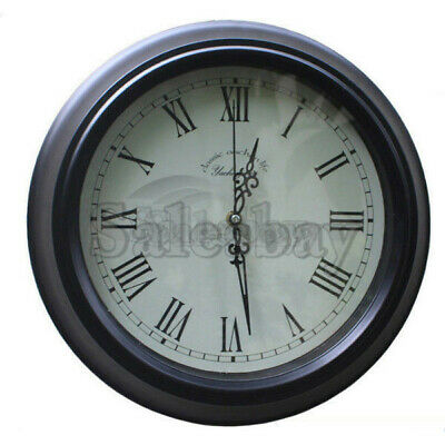 Large Metal and Wooden Industrial French Provincial Antique Round Wall Clock 6
