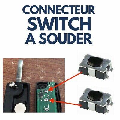 ►10 Switch pour Clé PEUGEOT ►Bouton Poussoir Interrupteur Plip Auto Télécommande 2