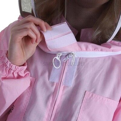 Buzz Basic Beekeeping Suit With Fencing Veil - Pink 4