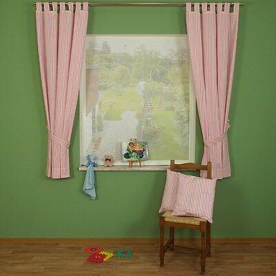 2 Von 4 Kinderzimmer Übergardinengarnitur Streifen Vorhang