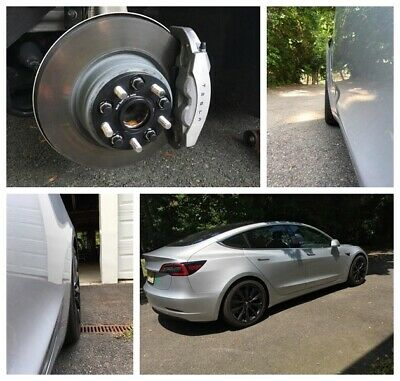 4 15mm Front 20mm Rear Fits Tesla Model 3 EV Hub Centric Wheel Spacers 5x4.5