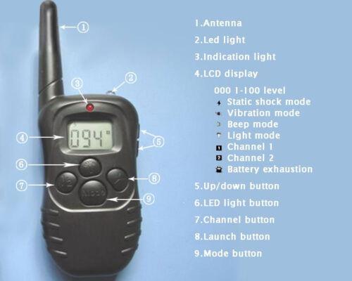 300M Electric Anti-Bark Shock Collar Dog Training Remote Control Anti-Barking 9