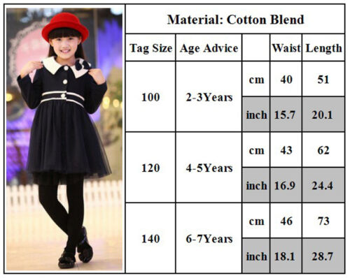 Kid Girl Winter Tight Legging Pants Toddler Stretch Thick Cotton Skinny Trousers 3