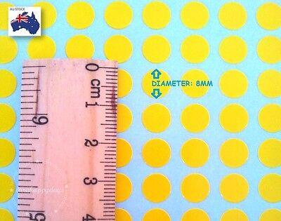 480 Pcs Assorted Colour Code Round Sticker Circle Label Dots Spots coloured 8mm 3