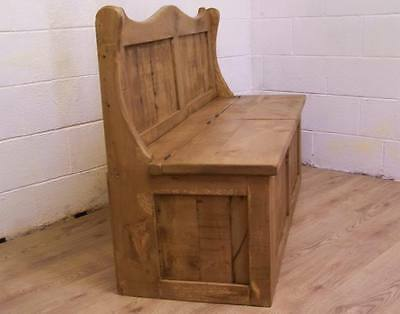 6Ft Wide 2 Seat Monks Storage Bench In Old Soli Rustic Pine We Can Make Any Size 4