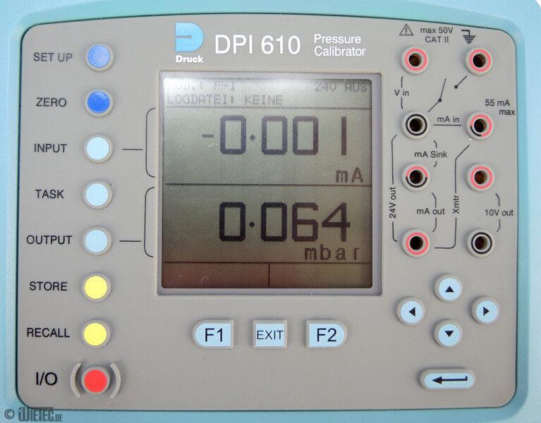 GE Druck DPI 610LP Niederdruckkalibrator DPI610LP #D10488
