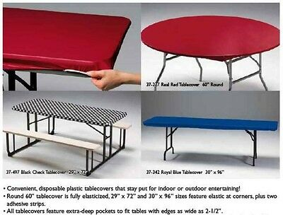12 Stay Put 60 Round Fitted Table Covers Tablecloths Blue Red