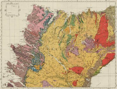Sutherland geological survey map sheet 5. Scotland Scottish Highlands 1948 2
