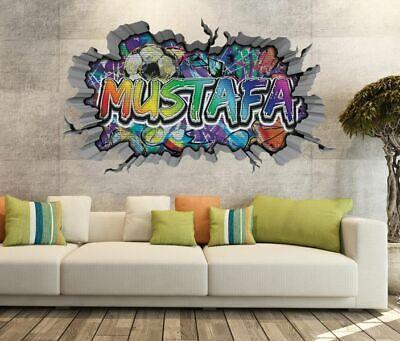 Werbeartikel 3d Wandtattoo Graffiti Aufkleber Junge Boy Name Wand Sticker 11u1452 Sammeln Seltenes Inkmax Jp