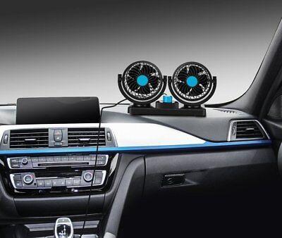 Doppio Ventilatore Per Auto Camion Camper Furgone 12V 24V Regolabile Aria Fresca 2