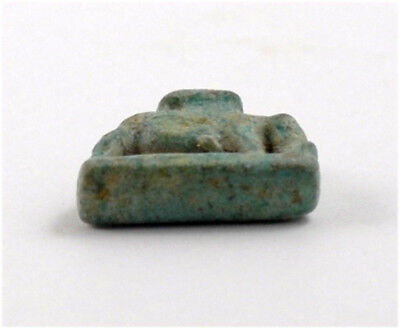 Egypt Third Intermediate Period a green faience amulet of Nut as a sow