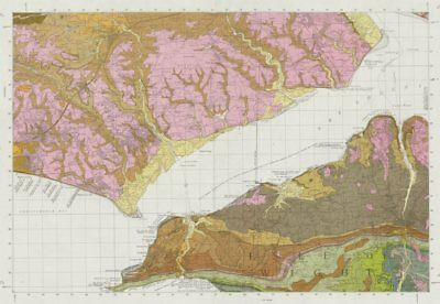 Lymington geological survey sheet 330 Isle of Wight Yarmouth Cowes 1975 map 2
