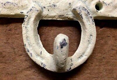 COWBOY ROUNDUP Horseshoe Hook, Towel Coat Hanger, western horse tack rack Shabby 4