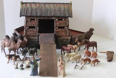 Vintage Elastolin Noah's Ark with Animals RARE HTF FREE SHIPPING! 2