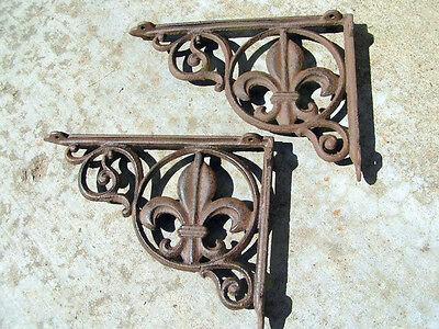 Two Cast Iron Shelf Brackets 10