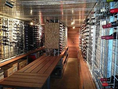 Galvanised Steel Metal Wine Storage Rack 216 Bottles 4