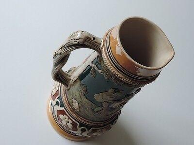 Alter Keramik Krug Bierkrug Kanne Bierkanne Um Ca. 1900 7