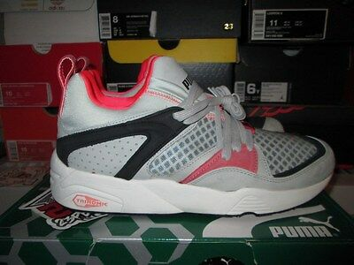 new concept caf0f 83879 ... Sale Puma Blaze Of Glory Trinomic Grey Black Pink Hot Lava 357772-03 2