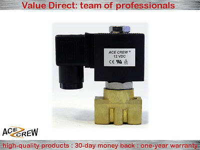 3/8 inch 12V DC Brass Electric Solenoid Valve NPT Gas Water Air Normally Closed