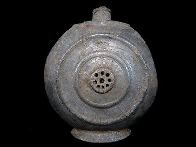 Extremely Rare Antique Pewter Flask-Bottle In As Found Condition+++ 3