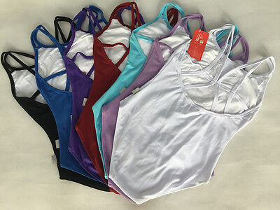 NEW Womens Lady Girls Camisole Leotard Ballet Dancewear Gymnastics
