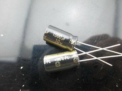 20Pcs 1000Uf 10V 105°C Radial Electrolytic Capacitor 8X12MM hz