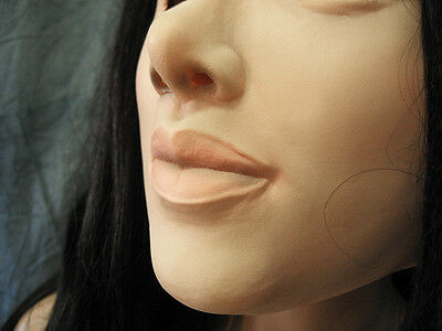 Gummimaske LILLY  v1 - Weibliche Maske Latex Crossdresser Transgender Frau Sissy 3