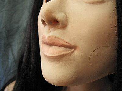 Gummimaske LILLY  v2  B - Weibliche Maske Latex Crossdresser Frauengesicht Sissy 3