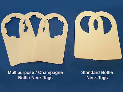 Wine Bottle Neck Tags - 100 Tag Pack 4