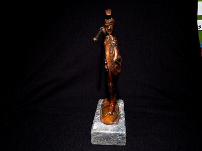 Attractive Vintage Copper Figurine, Greek Warrior!!! 2