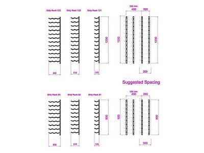 """Steel """"Strip"""" Wine Storage Rack - 24 bottles per wall rack 5 • AUD 100.00"""