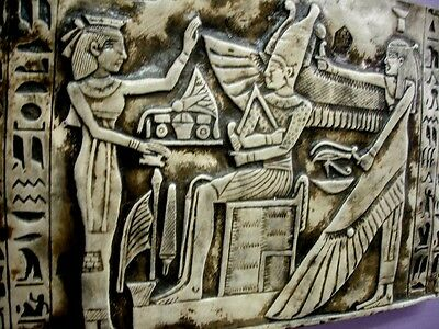 Egyptian Wall Decor God Osiris,Nephthys & priest Antique Reproduction AOH Studio