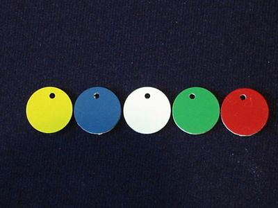 Quality Engraved Pet tag - mini acrylic circle 20mm 2