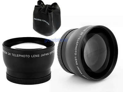 2x Tele Converter Lens 62mm for Nikon D3100 D3200 D5000 D5100 D5200 D7000 Camera 4