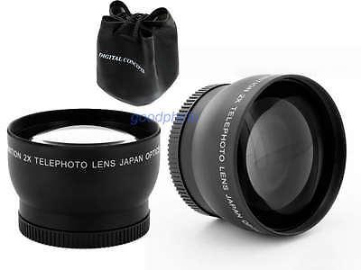 62mm 2x Telephoto Converter Lens for Nikon D3200 D5000 D5100 D5200 D7000 Camera 4