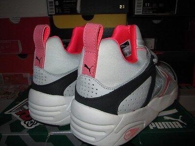 39495713ea30 ... Sale Puma Blaze Of Glory Trinomic Grey Black Pink Hot Lava 357772-03 3